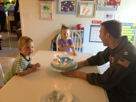 candles and daddy cake