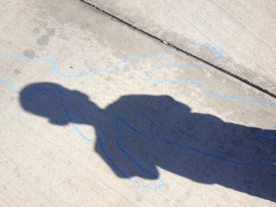 chalk shadow