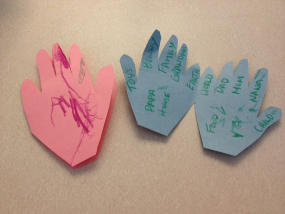 pryaing hands