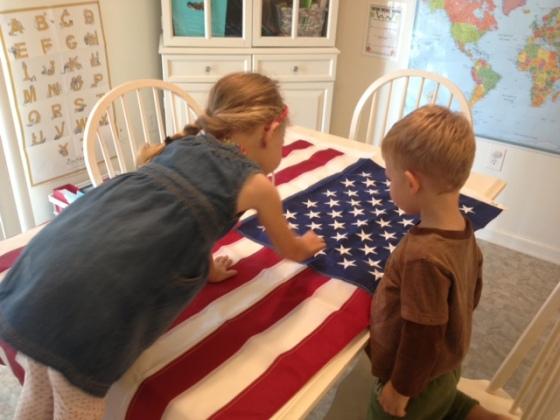 look at flag